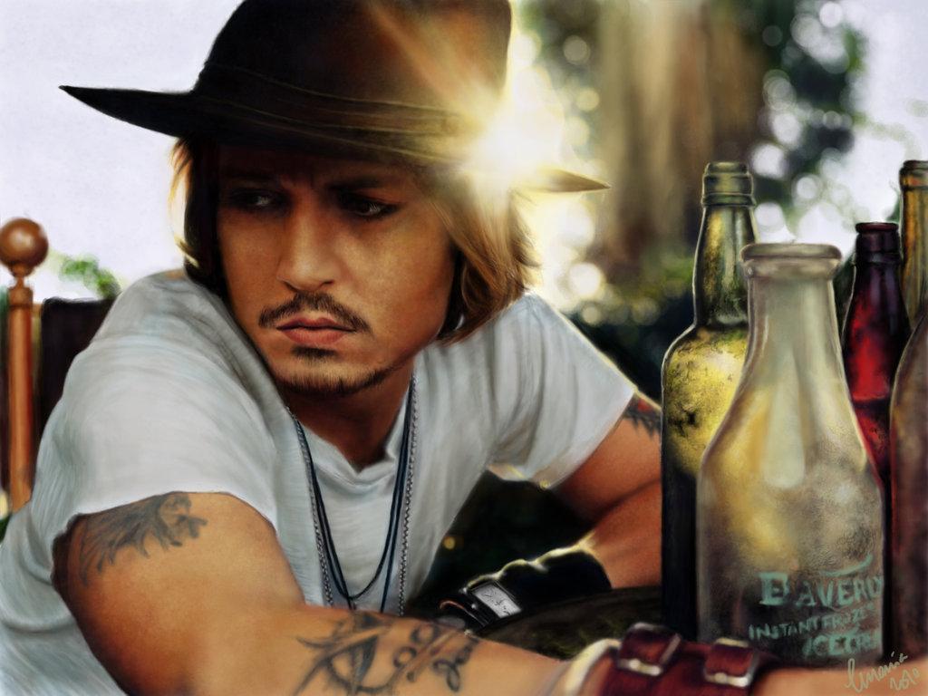 Digital-Painting-Johnny-Depp