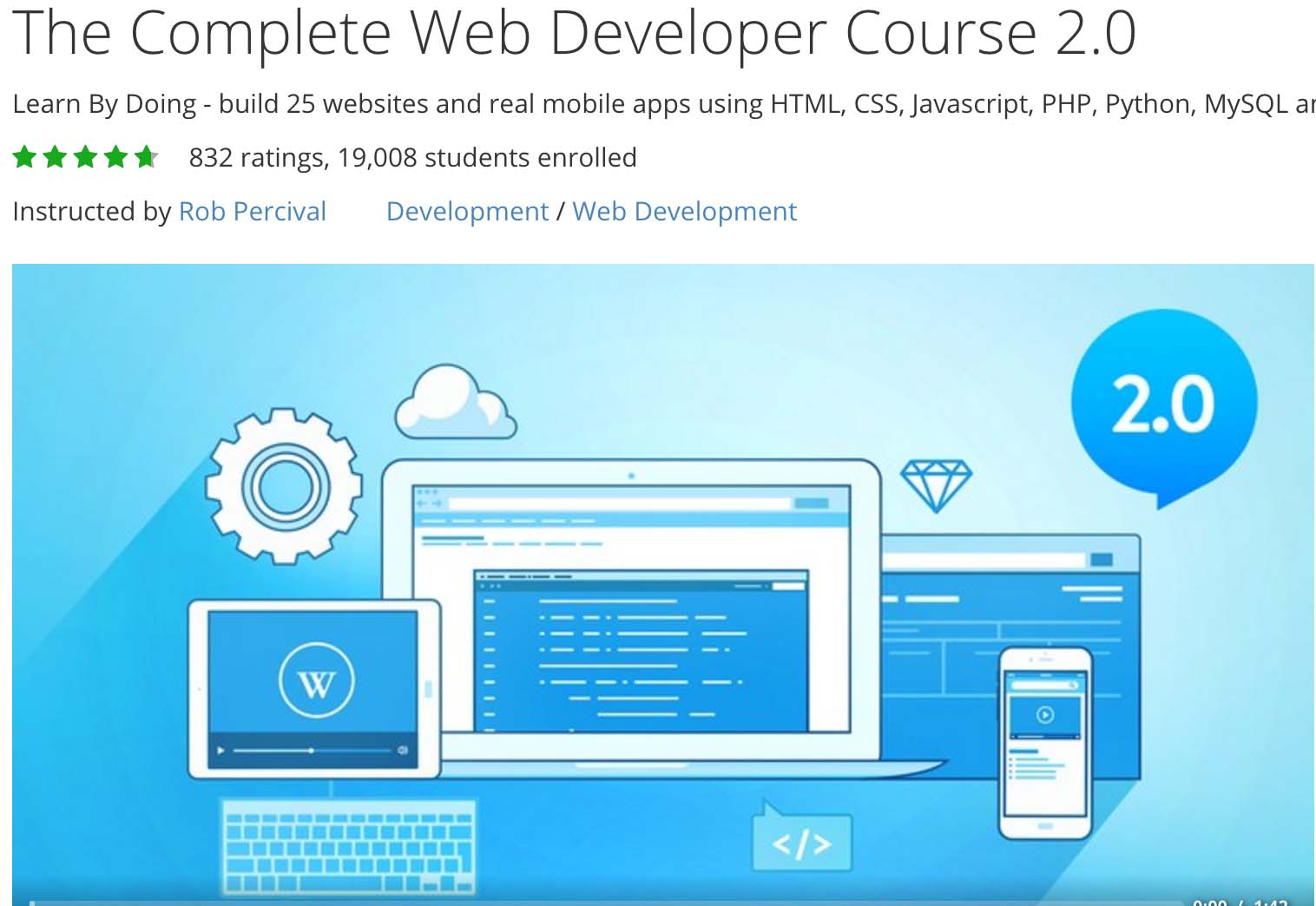 complete web developer course 2.0 coupon
