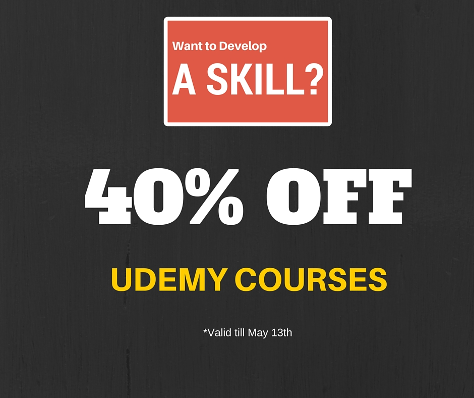 40% off Udemy Courses