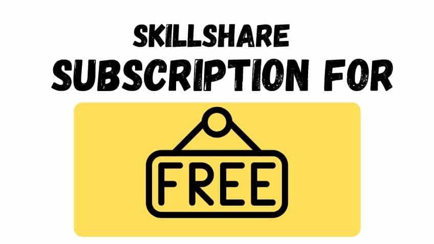 skillshare free subscription