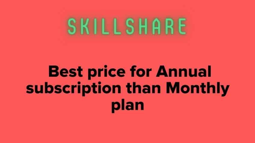 Annual skillshare coupon